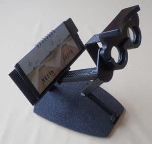 een bioptor die gebruikt wordt bij een oogtest voor de behandeling van fixatie disparatie