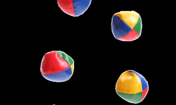 bioresonantie ballen in de lucht